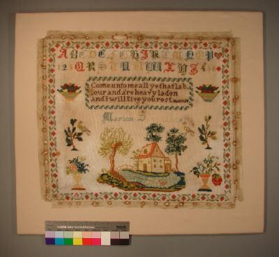 Sampler; Marion Sandilands