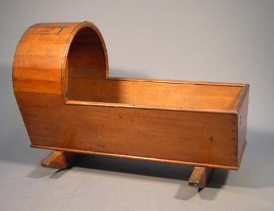 Cradle, made by James White, 1870s