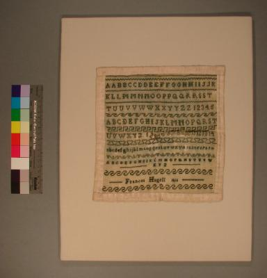 Sampler, worked by Frances Hagell, 1816