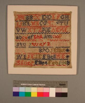 Sampler; Miss Agnes Elliot, 1848