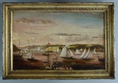 Painting; Regatta on the Otago Harbour