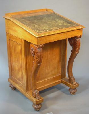 Davenport desk, pre 1865