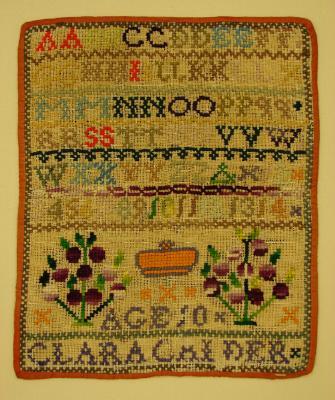 Sampler; Clara Calder