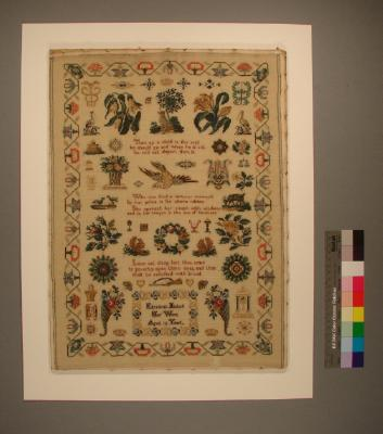 Sampler; Miss Elizabeth Nichols, London, 1849