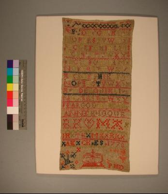 Sampler; by Anne Kilgour, 1770