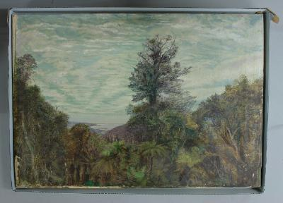 Painting; View from the Leith Valley saddle looking north to Waikouaiti and Karitane