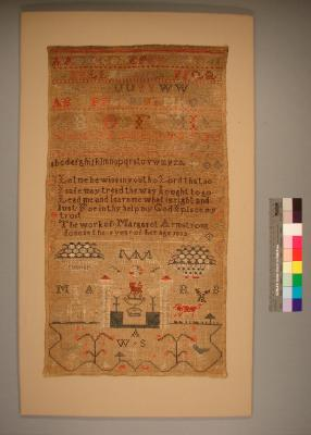 Sampler, by Margaret Armstrong, 1832