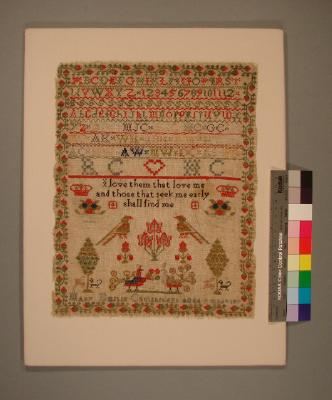 Sampler; Mary Emslie Cruickshank