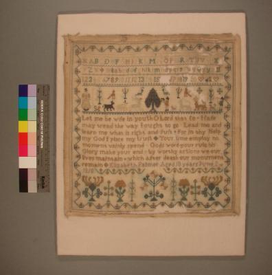 Sampler; Elizabeth Palmer, 1818