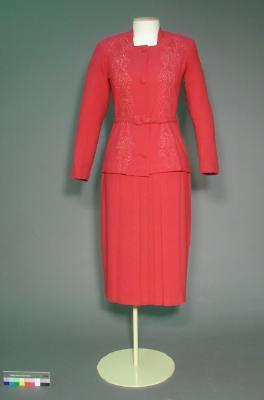 Skirt; Pink wool