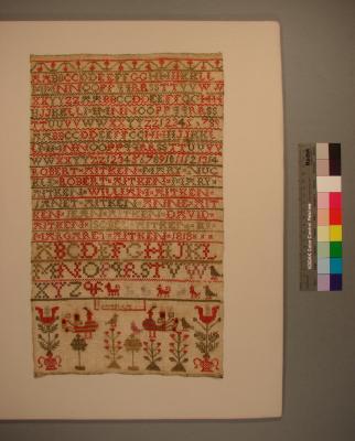 Sampler; Margaret Aitken, 1818