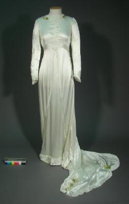 Wedding dress of Doris Addison (nee Clement), 1939