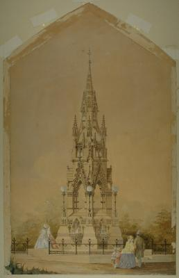 Painting; Cargill's Monument, 1864