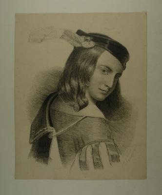 Drawing; Portrait of a young boy
