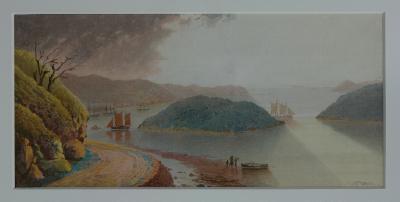 Painting; Goat Island, Otago Harbour