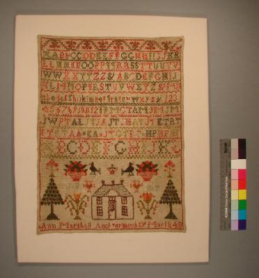 Sampler; Ann Marshall, 1848