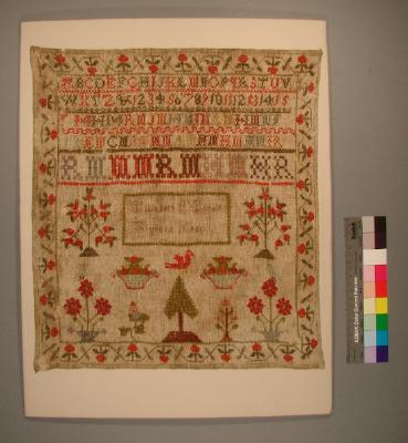 Sampler; Elizabeth Money, 1843