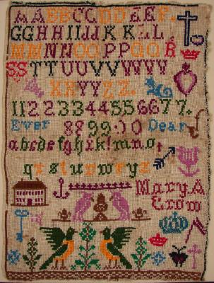 Sampler; Mary A. Crow